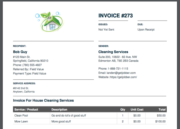 Clean-Invoice-Example