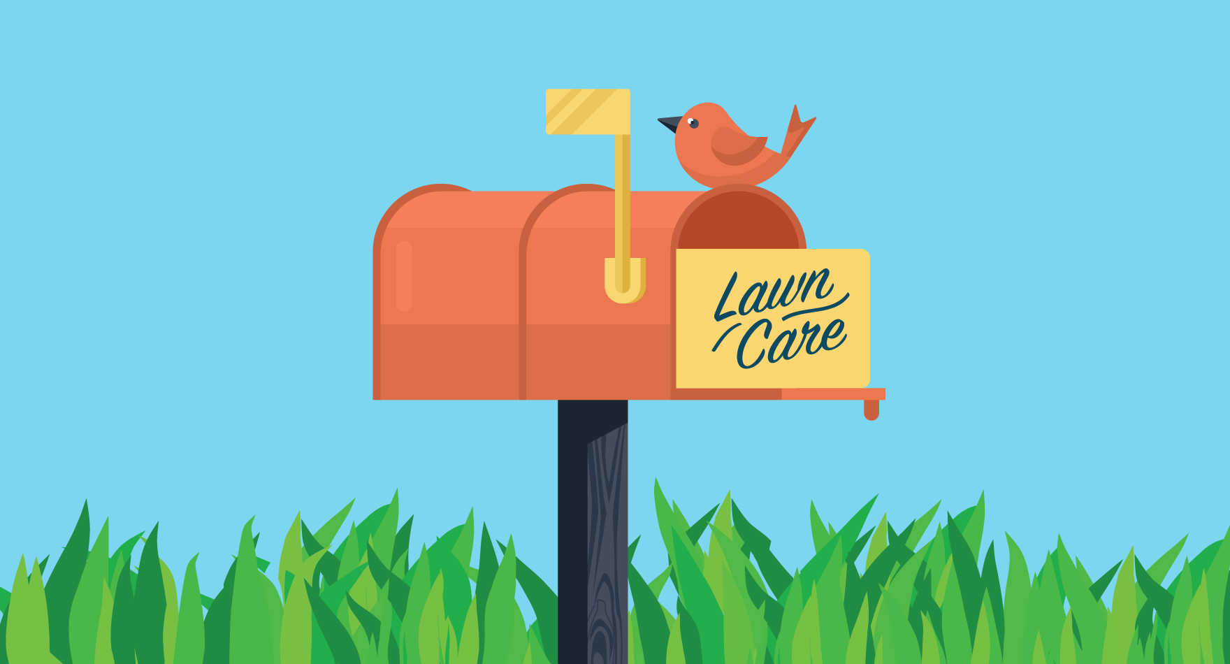 the easy way to use flyers to advertise your lawn care company - Lawncare