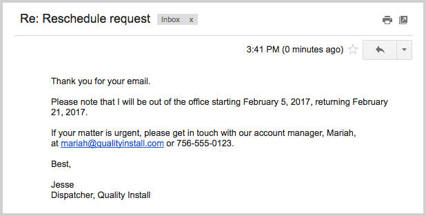 ooo mail template - how to write a professional out of office email message