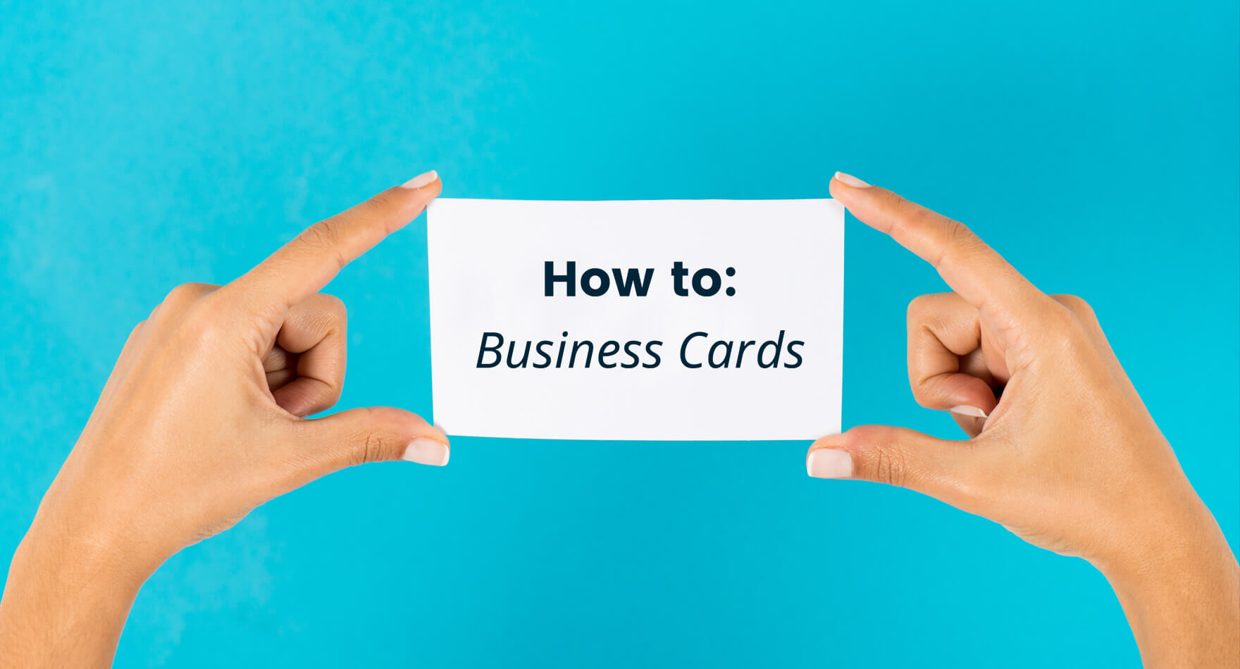 business card how-to