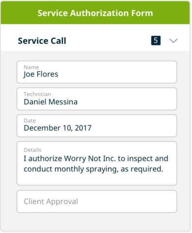 service authorization form