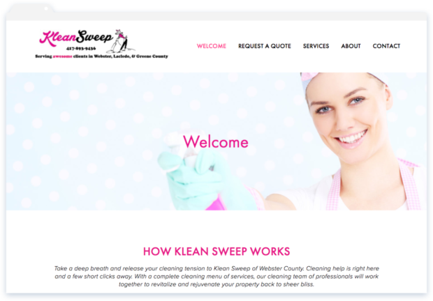 Klean Sweep Homepage