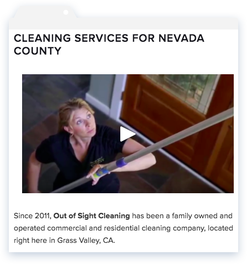 Cleaning Service Website with Video