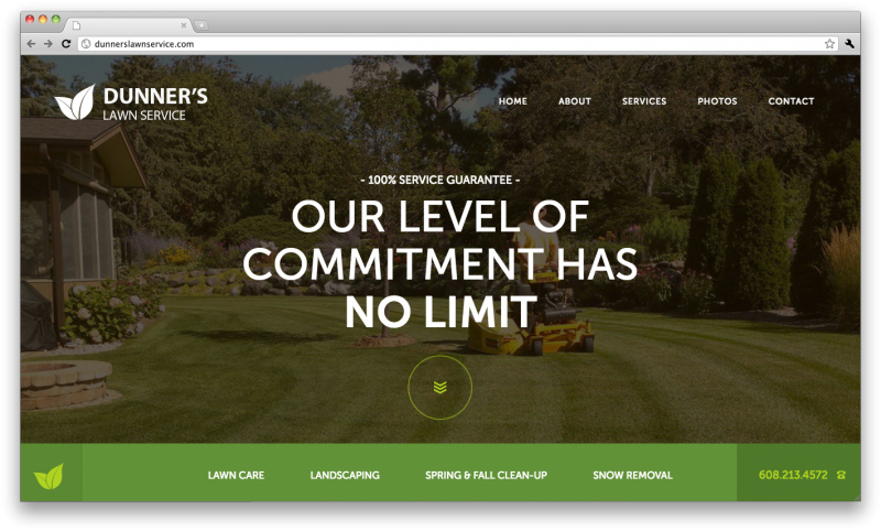 Dunners Lawn Service Website