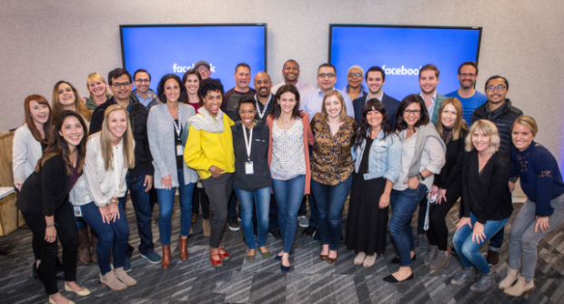 Handmaid Cleaning and the rest of Facebook's small business council members with Facebook COO, Sheryl Sandberg.