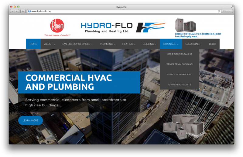 Hydro Flo Website