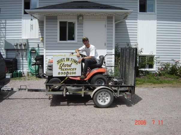 Justin Pitre, Owner and Operator of Just in Time Yard Services