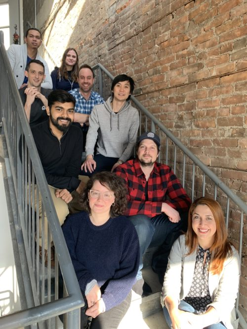 Jobber development team behind appointments in client hub.