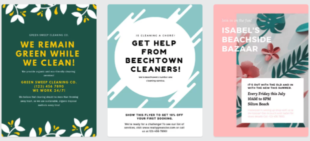 image of cleaning flyer examples