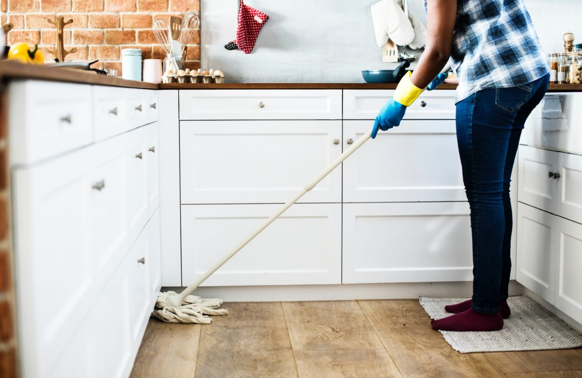 Image of woman house cleaning