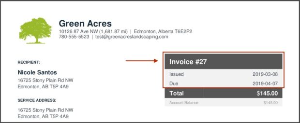 how to write an invoice example invoice number and invoice date