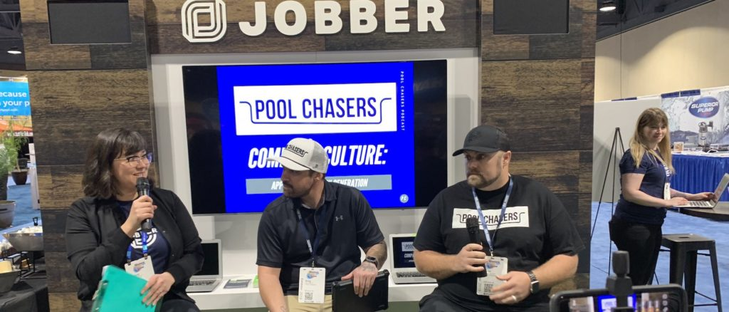 Pool Chasers speaking at the Western Pool and Spa Show