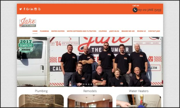 Best Plumbing Websites: Jake the Plumber