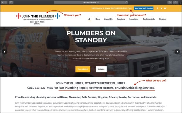 Best Plumbing Websites: John the Plumber