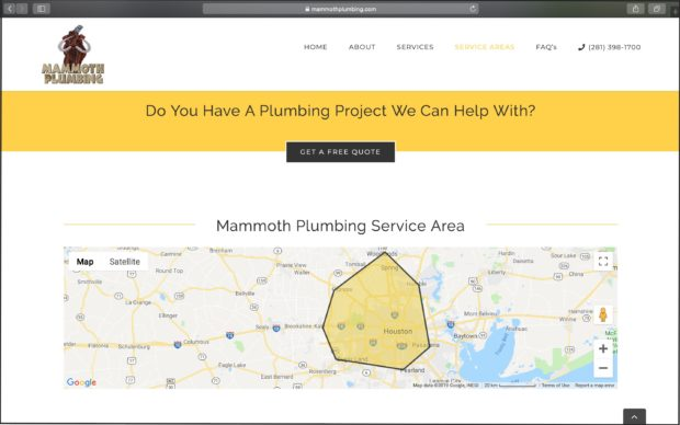 Best Plumbing Websites: Mammoth Plumbing