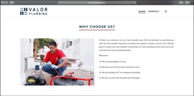 Best Plumbing Websites: Valor Plumbing