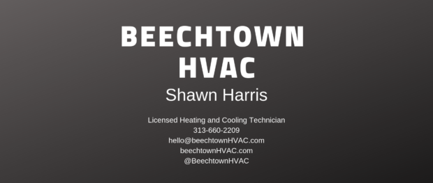 image of HVAC business card example