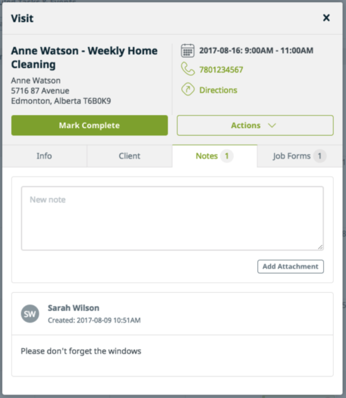 Use a software that allows you to make notes within client accounts and appointments.