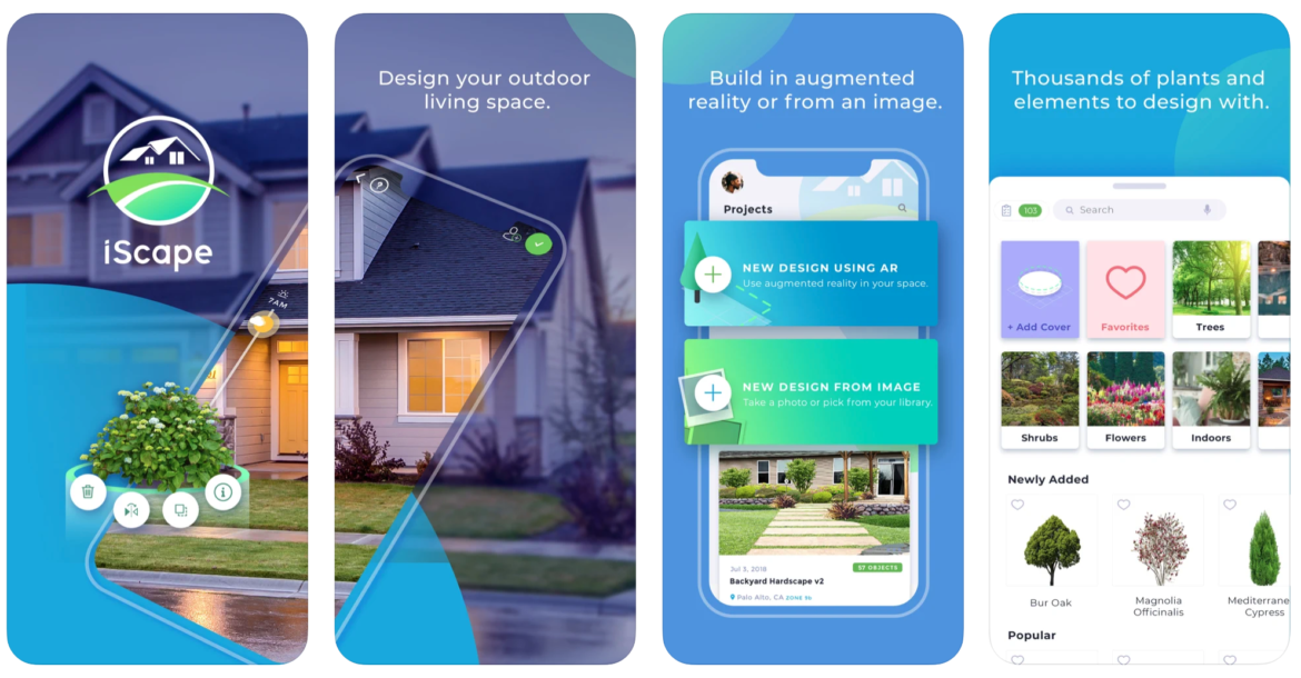 A mobile preview of the iScape app for landscapers