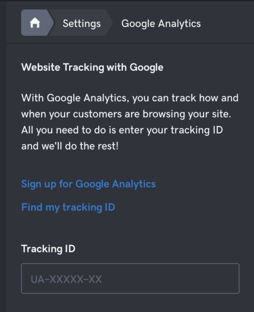 Service Company Website - Google Analytics