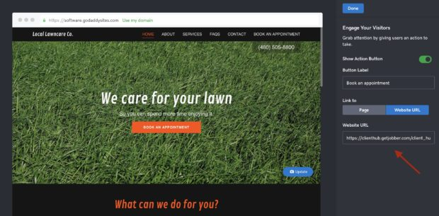 Creating your Service Company Website - CTA