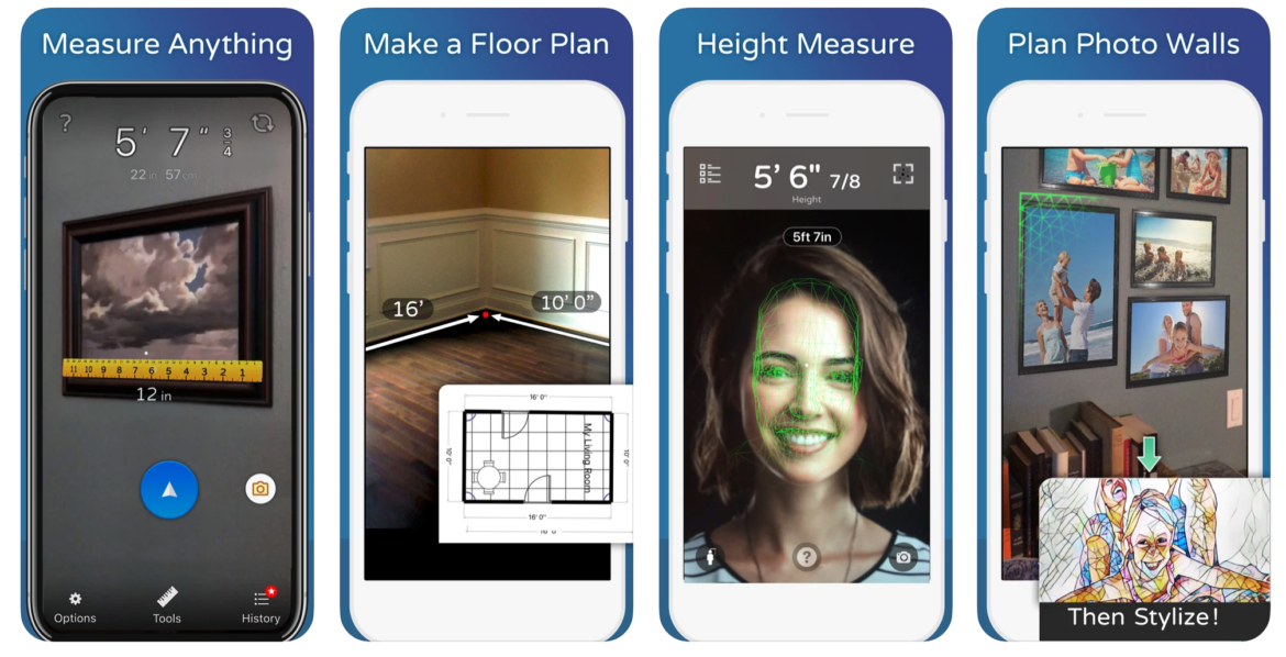 A mobile preview of the Tape Measure lawn care app
