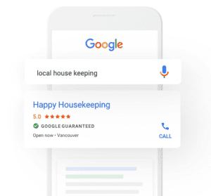 Google Local Services Ad example