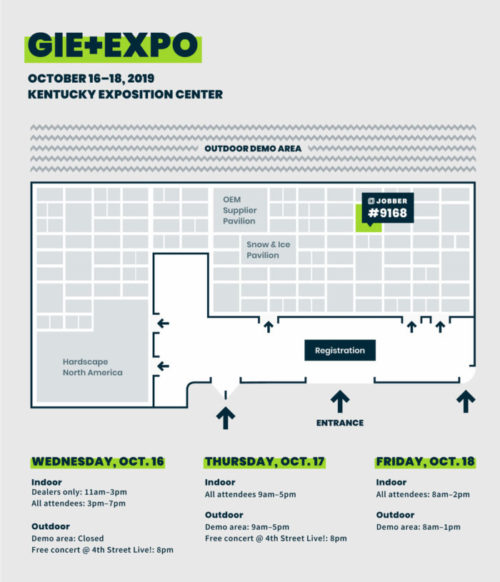 GIE+EXPO 2019 Floor plan and hours