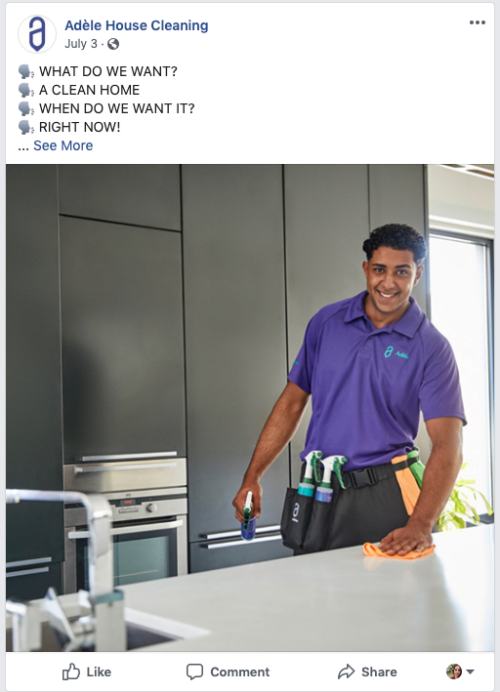 the absolute best ads for cleaning service businesses  ideas and examples
