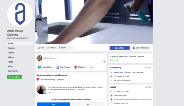 Image of cleaning business facebook ads