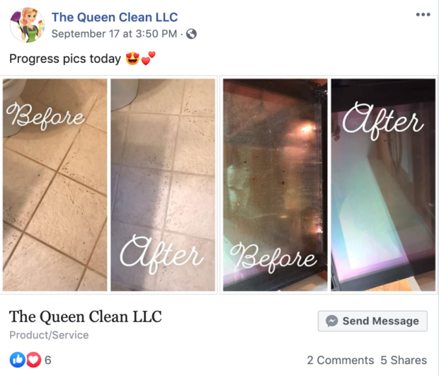 image of how to make facebook ads for cleaning business