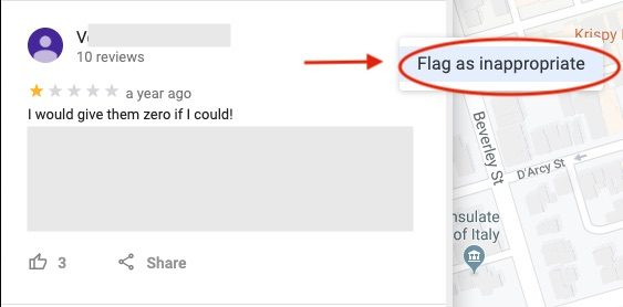 How to Delete A Google Review - Flag as Inappropriate