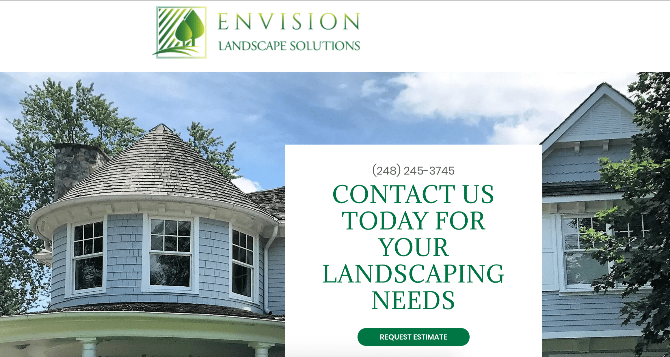 image of landscaping website design