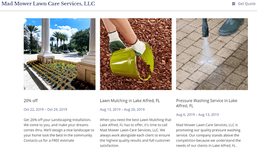 image of great lawn care website ideas