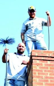 Professional modern chimney sweeps operating a successful business