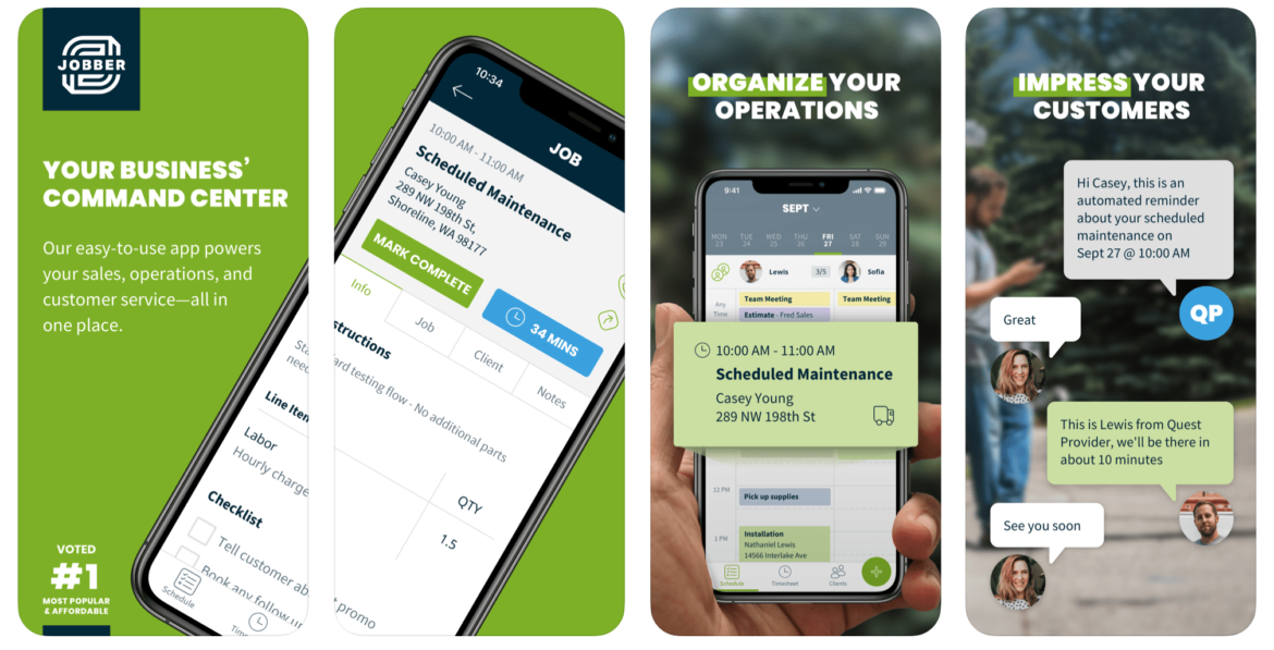 HVAC App: Jobber for HVAC Scheduling and Dispatching
