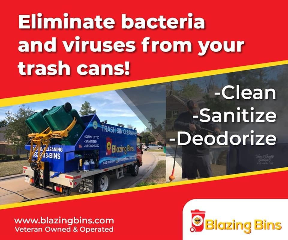 Blazing Bins commercial cleaning flyer example