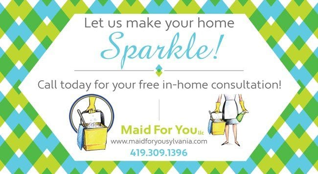 image of a real cleaning service business flyer example