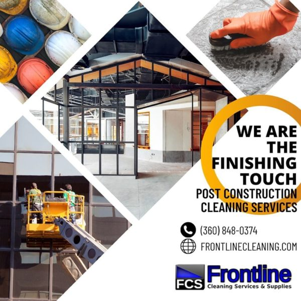 Frontline cleaning services commercial cleaning flyer example