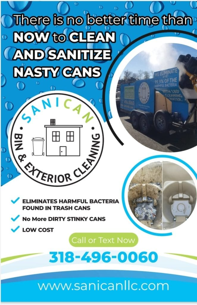 SaniCan LLC commercial cleaning flyer example