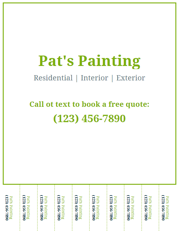 Image of Free Painting Flyer - Tearaway