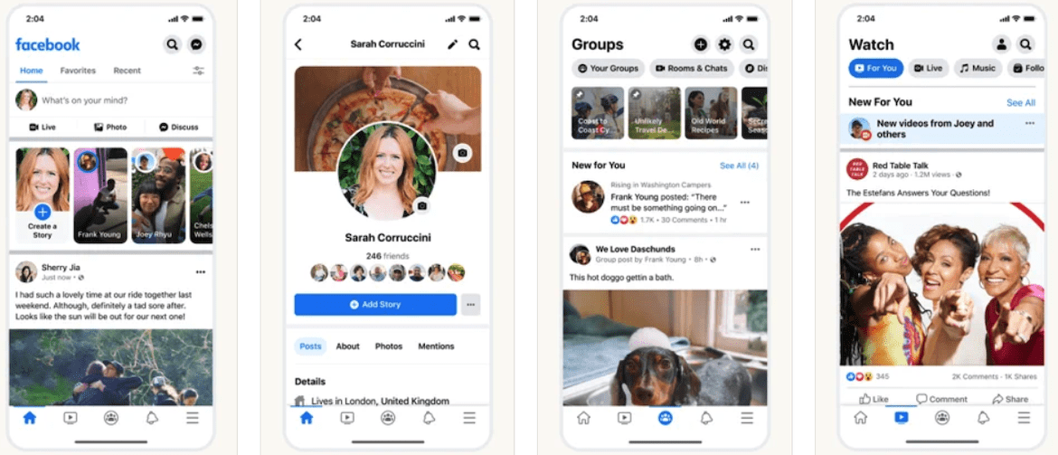 A mobile preview of the Facebook app for lawn care business marketing