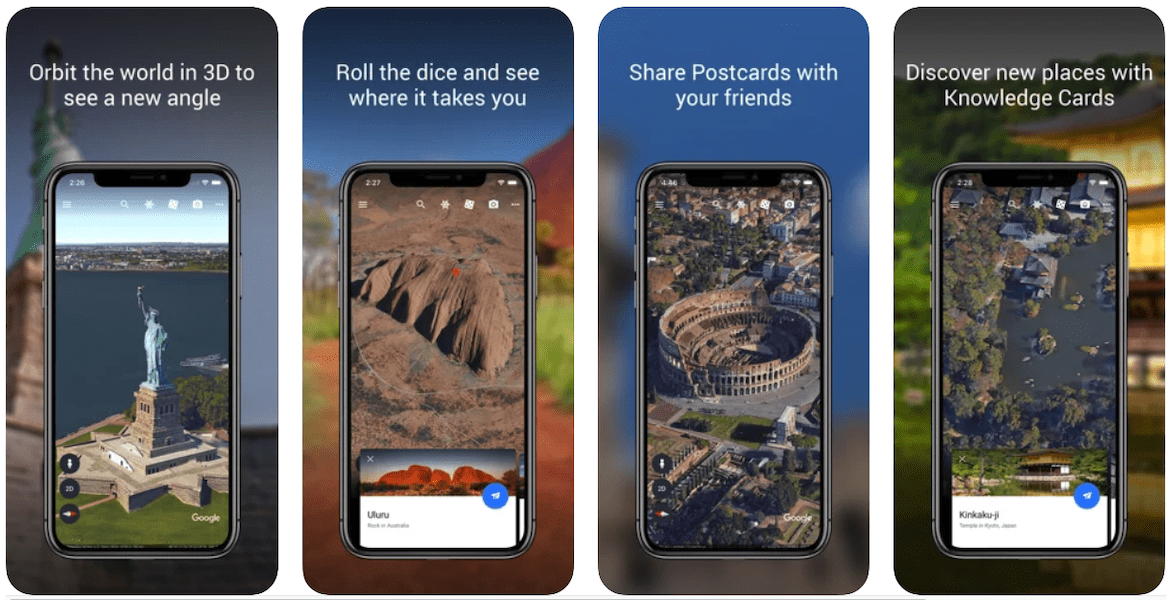 A mobile preview of the Google Earth App for landscapers