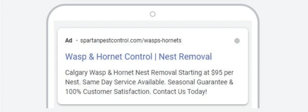 Pest Control Ad: Real Example