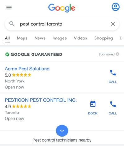 Pest Control Local Services Ad