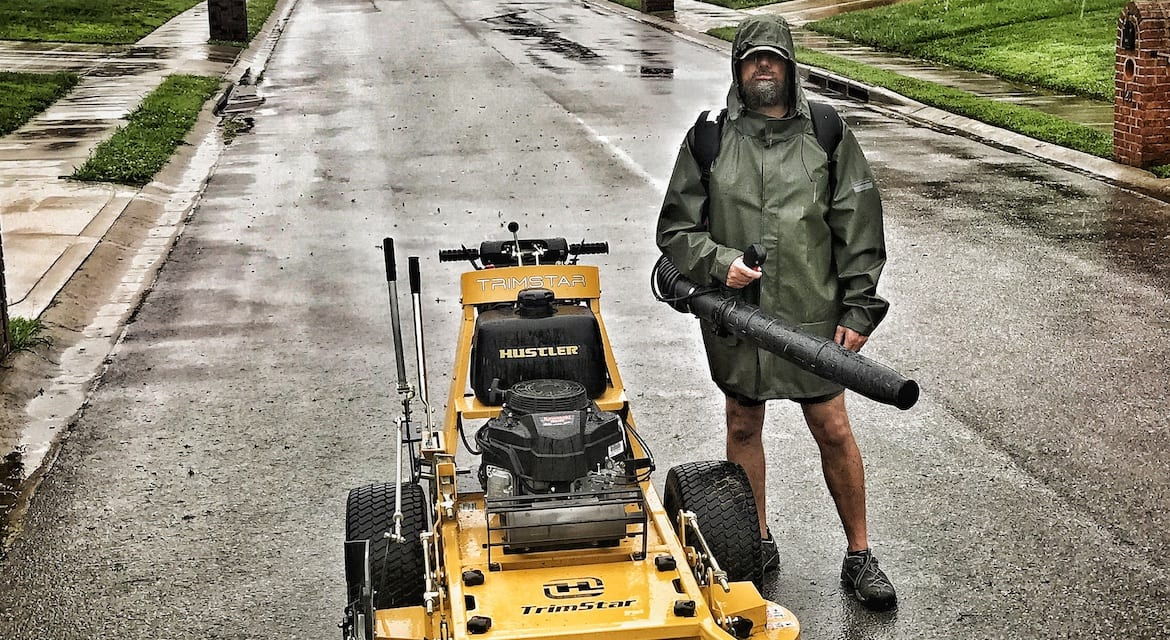 Rainy day landscaping services